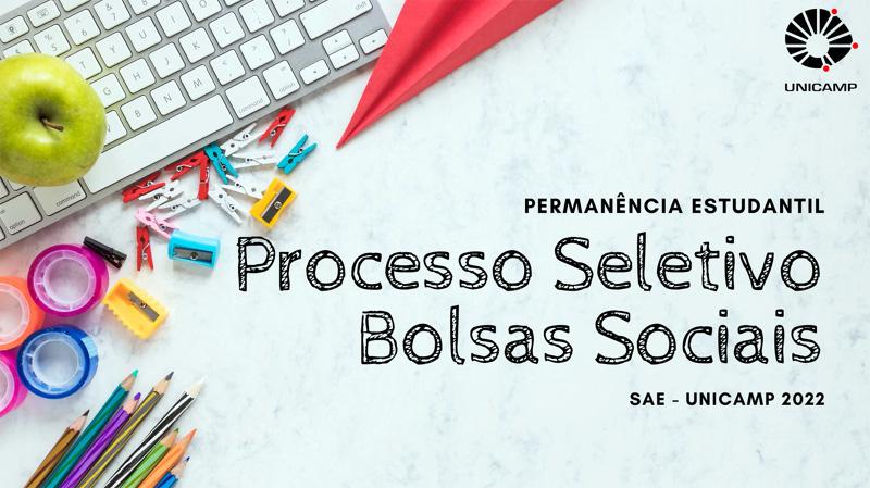SAE divulga Edital e cronograma do Processo Seletivo das bolsas-auxílio 2022